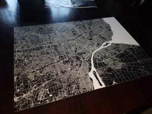Completed Detroit map puzzle